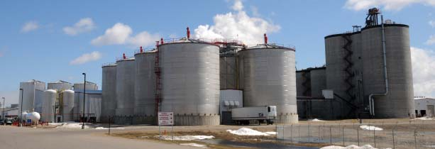 Overview of Hankinson Renewable Energy's 132-MMGY ethanol plant.